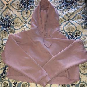 Cropped Lavender Hoodie